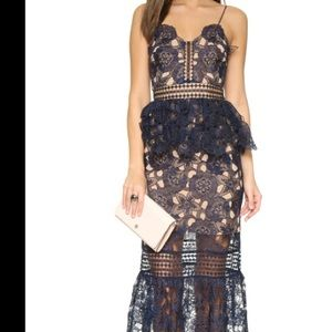 Dress the population floral lace dress